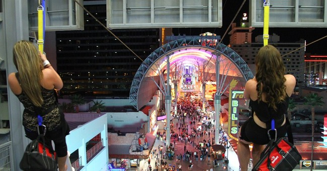 'SlotZilla' zip line opens in downtown Las Vegas