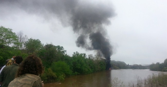 Tankers carrying oil derail, catch fire in Va.