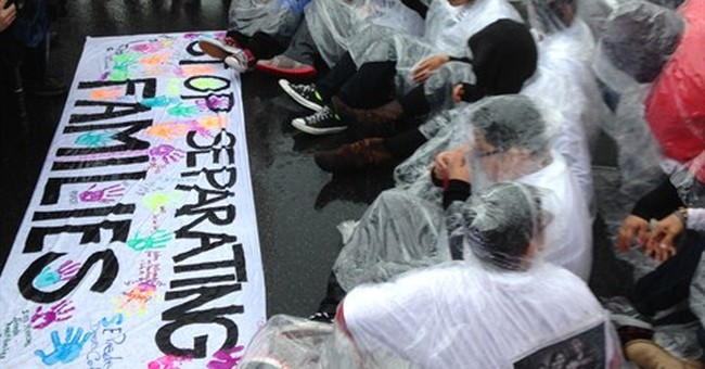 Youths arrested in immigration protest