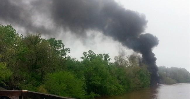 Tankers carrying oil derail, catch fire in Va.