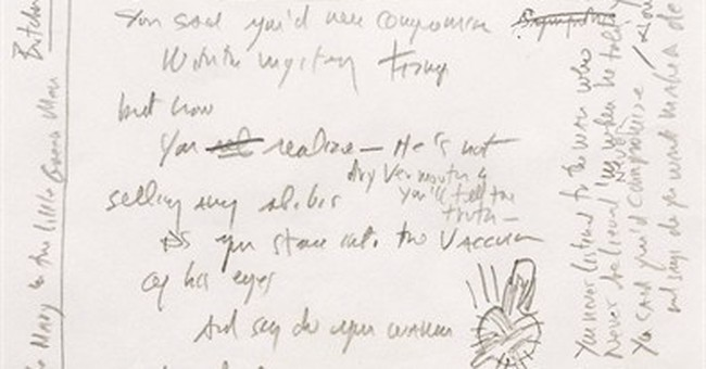 Dylan's 'Like a Rolling Stone' heads to auction