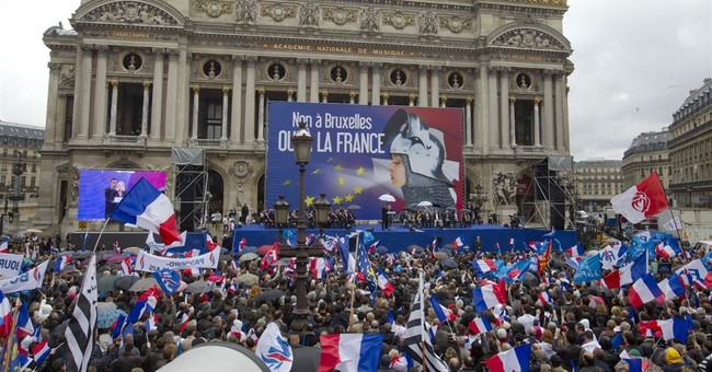 French far-right marches toward European elections