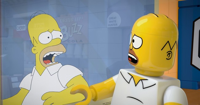 Homer goes hard-body in 'Simpsons' Lego episode