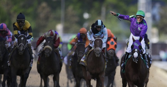California Chrome breaks away for Derby win