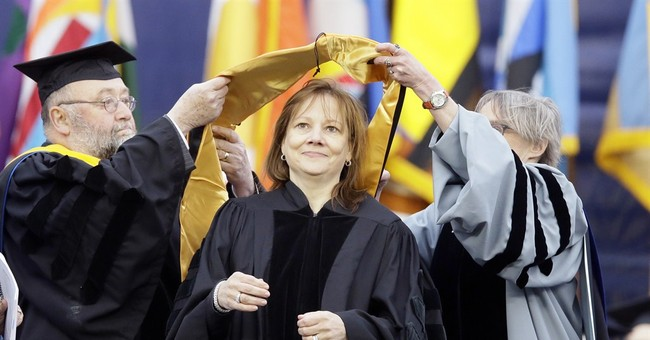 GM CEO tells students to quickly fix problems