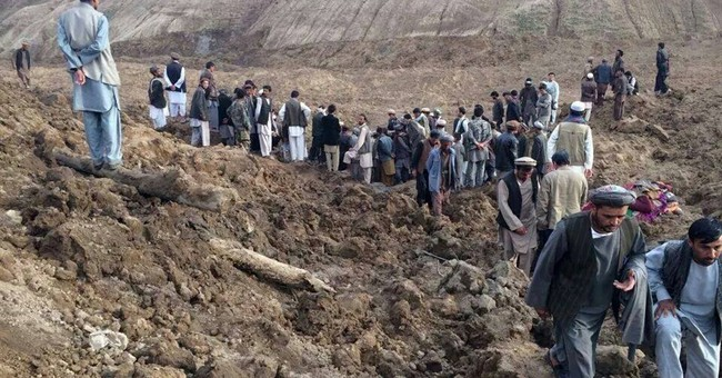 Focus now on Afghan families displaced by slide