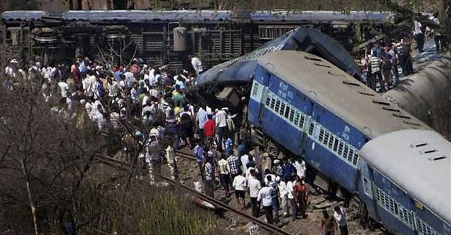 Passenger train derails in India; at least 19 dead