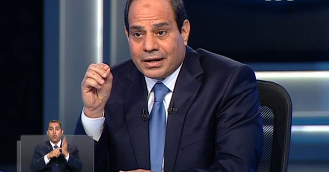 Egypt's el-Sissi: Brotherhood will not return