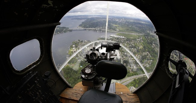 WWII B-17 'Flying Fortress' in skies over Seattle
