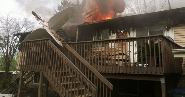 Pilot crashes into former home north of Denver