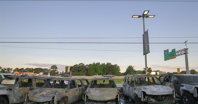 Pricey SUVs destroyed when wreck triggers fire
