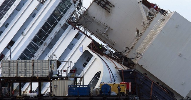 Tank to float Concordia shifts