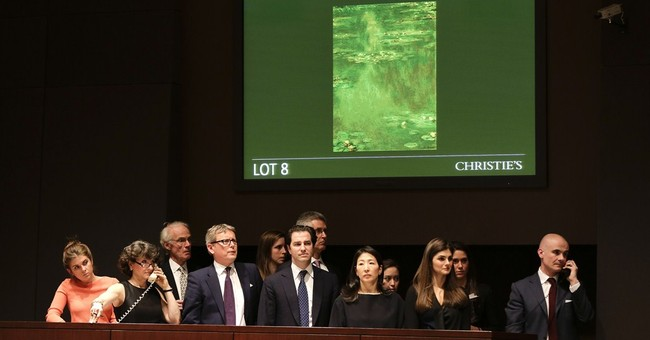 Monet's 'Water Lilies' auctioned in NY for $27M