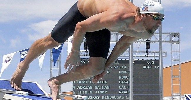Phelps enters 2 events at North Carolina meet