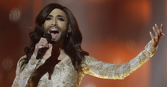Bearded drag queen in Eurovision spotlight