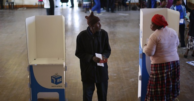 South Africa ruling party leads in election tally