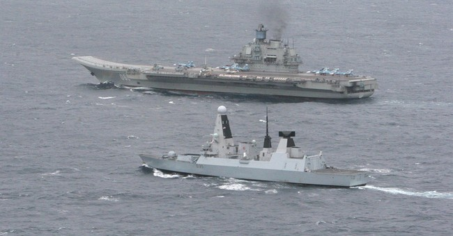 UK Royal Navy escorts Russian ships in Channel