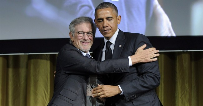 Obama hangs with Spielberg, Springsteen at benefit