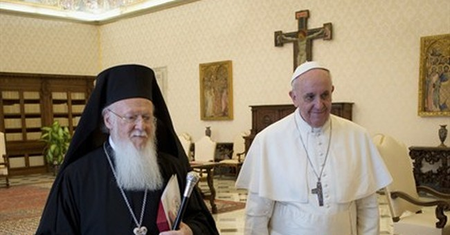 Orthodox patriarch eyes unity in visit with pope