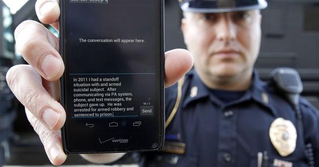 Texts between suspect, negotiator during standoff