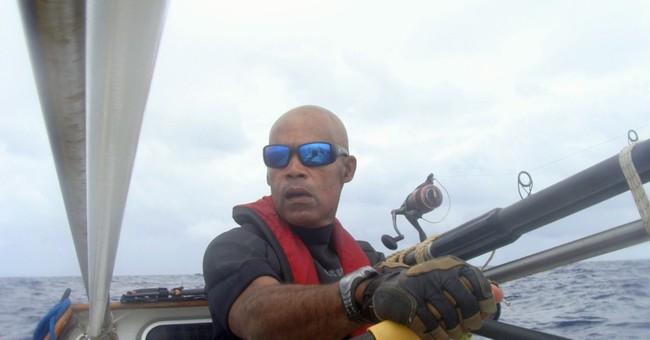 US man reaches halfway in trans-Atlantic row bid