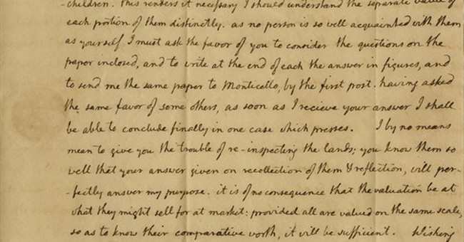 1805 Thomas Jefferson letter for sale at $35,000
