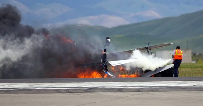Pilot crashed during second stunt attempt