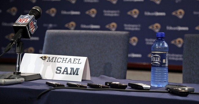 Gay rights advocate helping Rams, Sam adjust