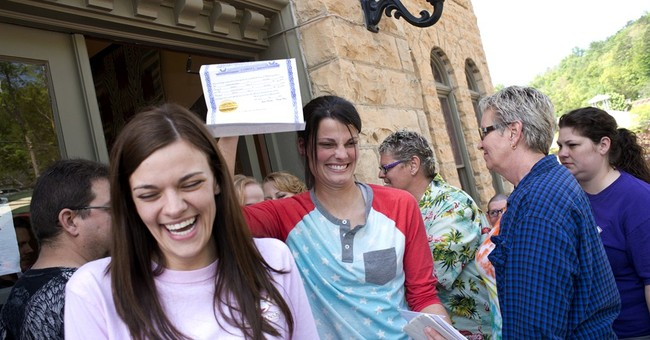 Arkansas gay marriages end, for now, after ruling