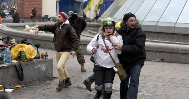 Ukraine protester hopes blood not spilled in vain