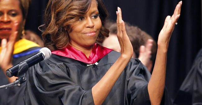 First lady tells Kansas students to fight bias