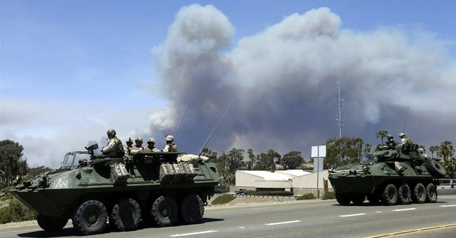 Evacuation order lifted for some at Camp Pendleton