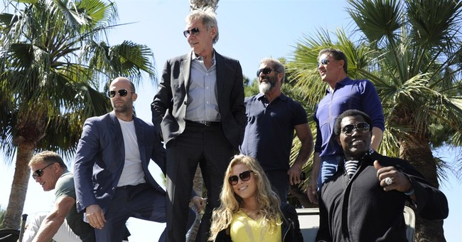 'Expendables 3' cast rolls into Cannes in tanks