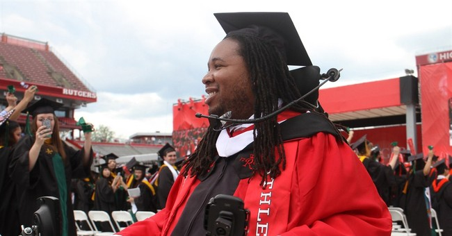 Rutgers' LeGrand tells grads anything is possible