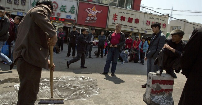 China says separatist group attacked train station