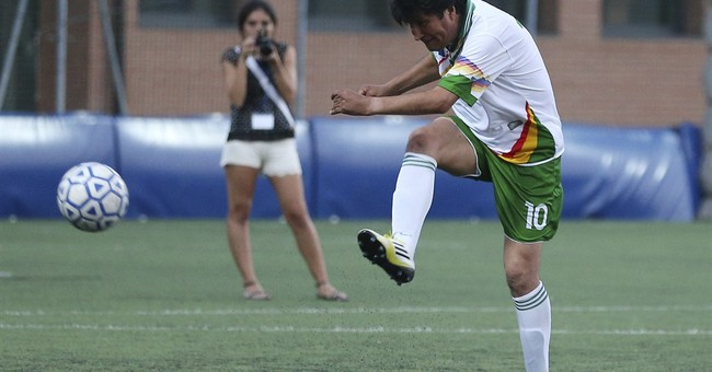 Bolivian soccer club signs on president as player