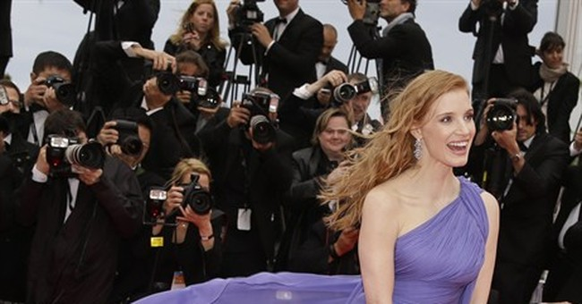 CANNES WATCH: Wind bedevils outfits on the carpet