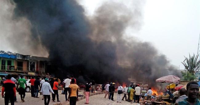 2 bomb blasts in Nigeria kill at least 46
