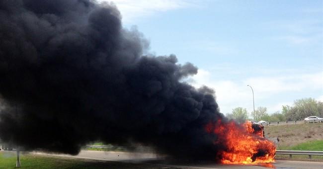 Minnesota school bus catches fire; no one hurt