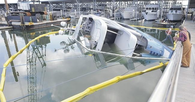 85-foot yacht sinks at launching in Washington