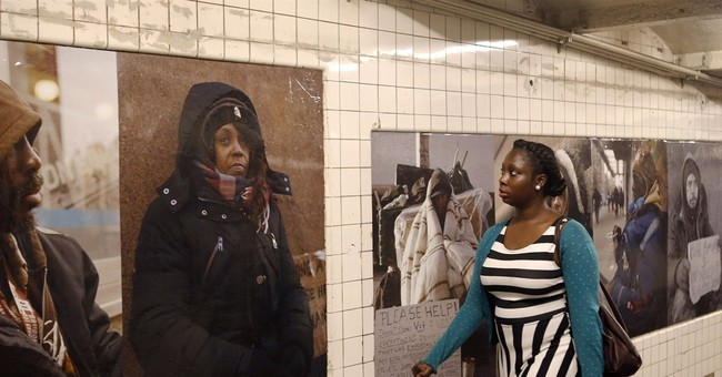 Serrano's homeless photos pop up in NYC
