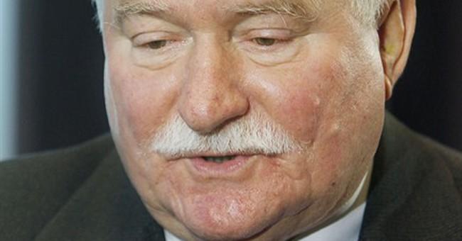 Poland's Walesa says the US no longer world leader