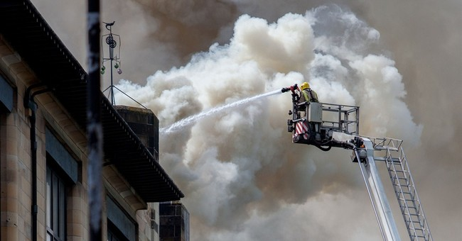 Fire crews save most of Glasgow School of Art