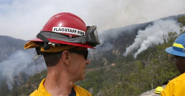 Arizona wildfire fighting strategy: Let blaze grow