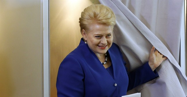 Lithuanian president declares re-election victory