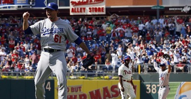 Beckett pitches no-hitter, Dodgers stop Phillies
