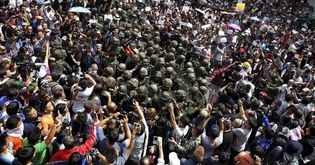 Thai junta leader says king endorses coup