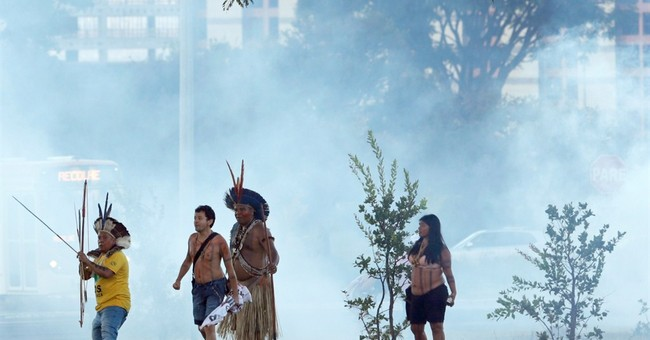Brazil's indigenous, police clash in protest