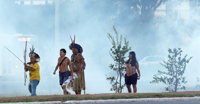 Indigenous groups demonstrate in Brazil's capital