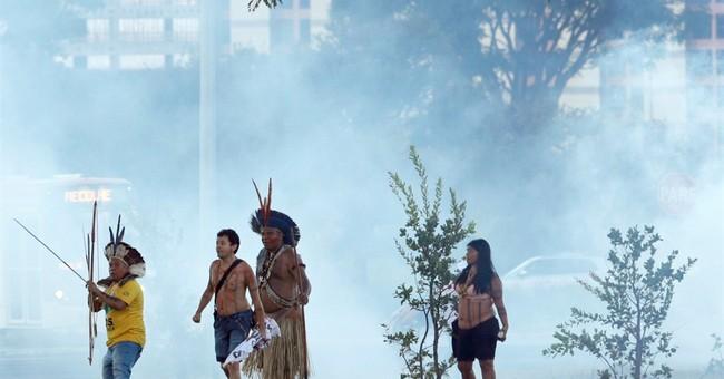 Brazil's indigenous, police clash in protest